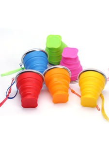 Water-Cups Drinkware Telescopic Folding 200ML Retractable Travel Collapsible Camping