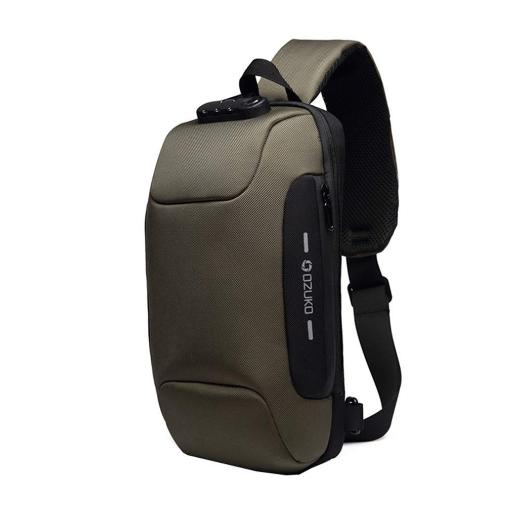 OZUKO Men's Multi-function Messenger Bag Anti-theft Waterproof Travel Chest Bag Crossbody Bags мужская сумка клатч женский