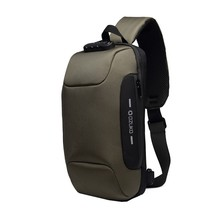OZUKO Men's Multi-function Messenger Bag Anti-theft Waterpro