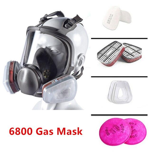 Grote Maat Volledige Gezicht 6800 Gasmasker Gelaatsstuk Respirateur Schilderen Spuiten voor schilderen chemische Laboratorium medische Veiligheid masker