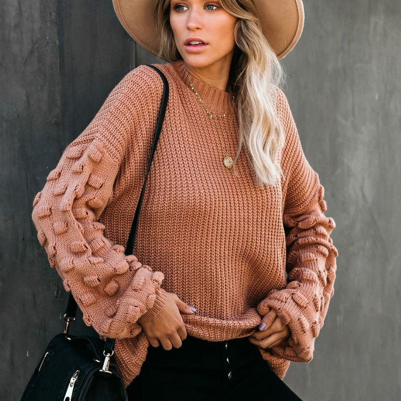 2021 Winter O-neck Women's Sweater 1