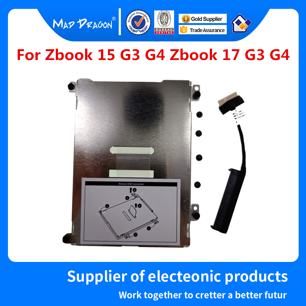 New Original SATA SSD HDD Cable HDD Caddy Bracket KITS For HP ZbooK15 G3 ZBOOK 17 G3 APW70 DC020029U00  AM1CA000900  AM1C3000800