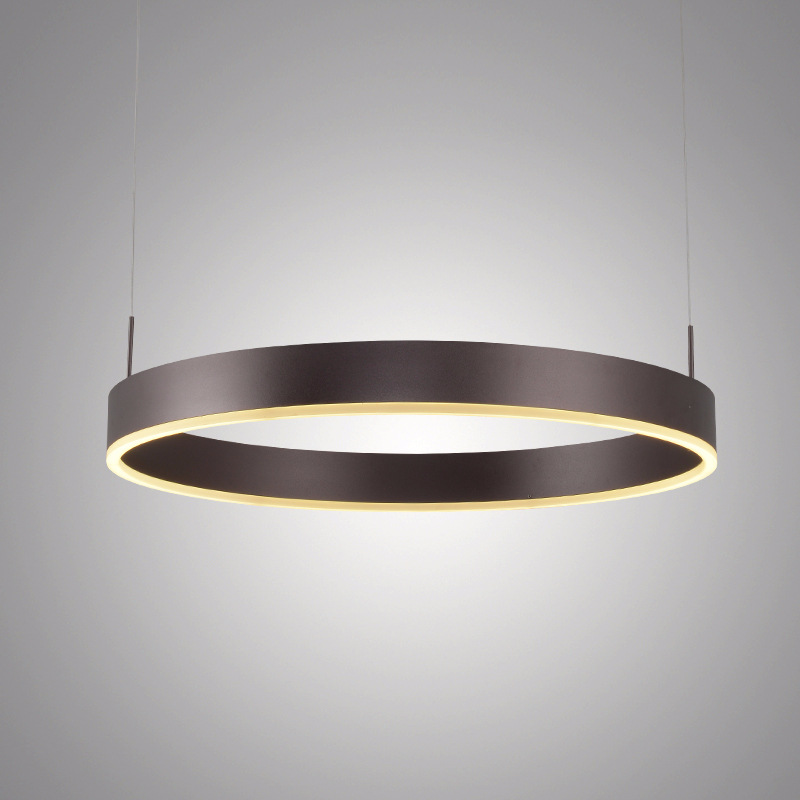 LukLoy Large Ring Modern Pendant Lamp Kitchen Island Dining Table Coffee O Ring Chandelier Suspension Lighting Fixture