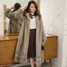 Luxury Real Mink fur coat women Winter thick warm mink fur coat Natural fur outwear Genuine Leather Real fur coat Female