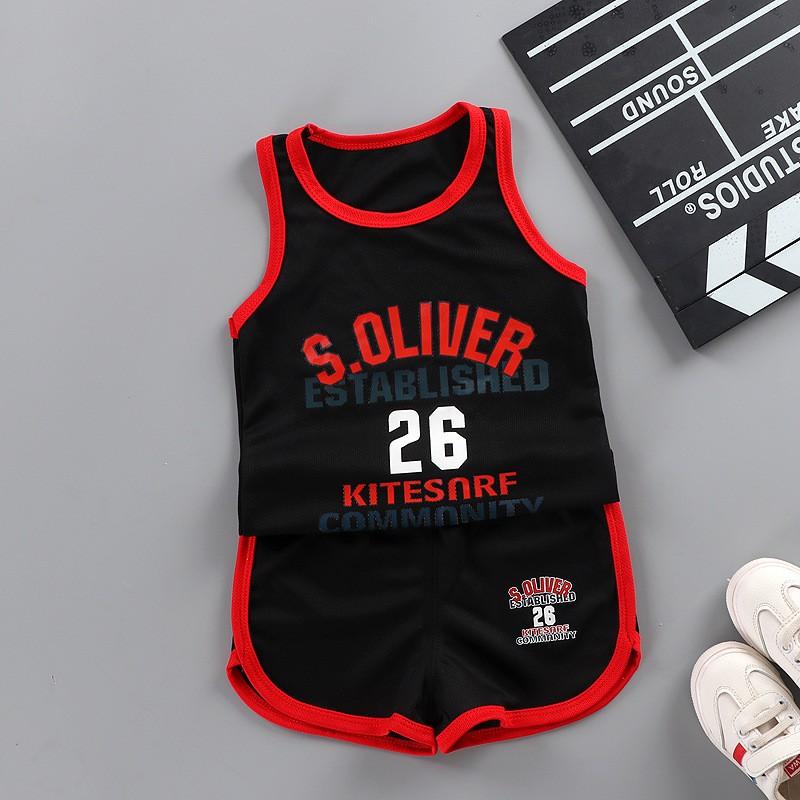 Summer New Boys Baby Fashion Infant Clothing Set Kids Cotton Cartoon Vest Shorts 2pcs Toddler Boy Sleeveless Suit For 9 4T