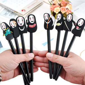 4 Pcs / Set Creative Grimace Male Cartoon Student Gel Pen 0.38mm Black Ink Gift School Writing Supplies Stationery