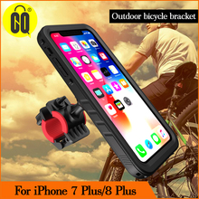 Bike phone holder Motorcycle GPS Handlebar Bicycle stand Mount for iPhone 7P/for 8P Shockproof Case 360 Rotate
