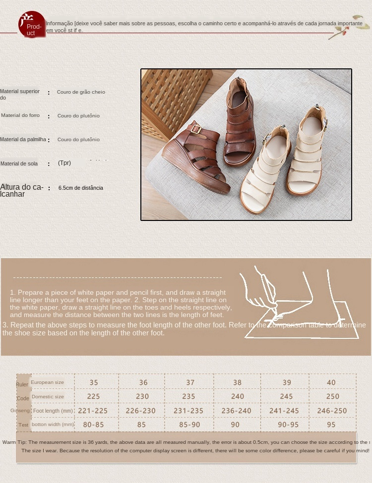 2021 nova oco sandálias de couro genuíno