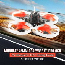 2019 Happymodel Mobula7 75mm Mini Crazybee F3 Pro OSD 2S Whoop RC FPV Racing Drone Quadcopter with Upgrade BB2 ESC 700TVL BNF цена