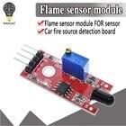 WAVGAT KY-026 Flame Sensor Module IR Sensor Detector For Temperature Detecting Suitable For Arduino