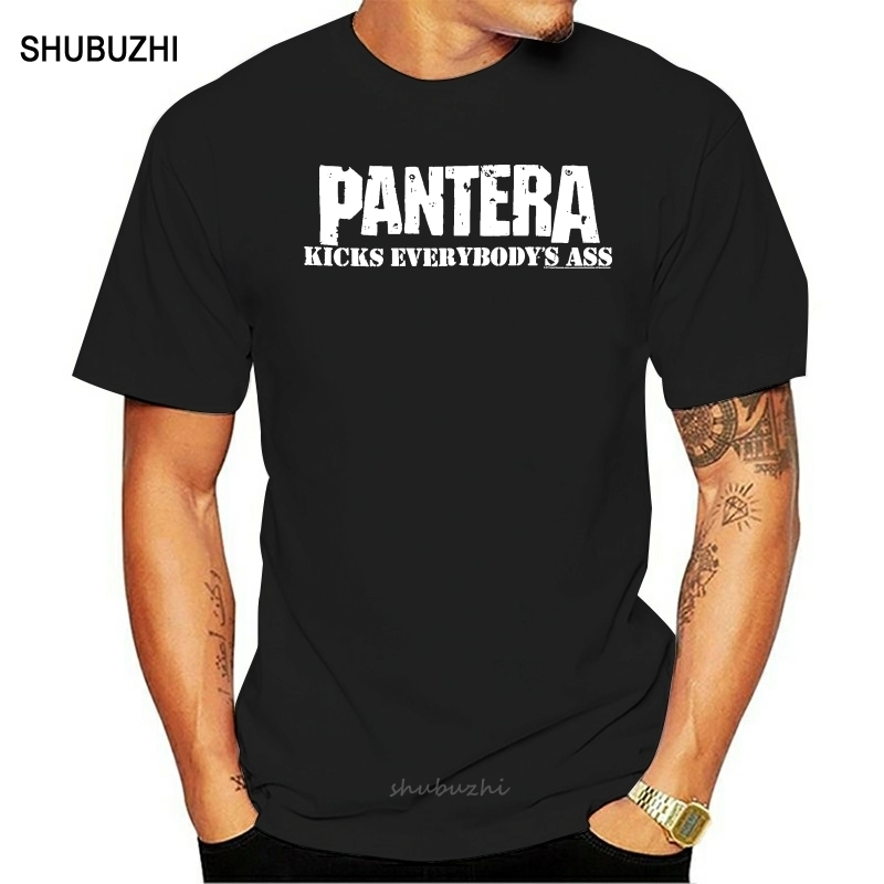 Pantera Kicks Everybodys Ass Shirt S M L XL XXL XXXL Officl T-Shirt Metal Band T Shirt Men's shirts image