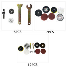 Grinder Sander Sanding Belt Electric Drill Variable Angle Grinder Mandrel Adapter Disc Holder Kit Spanner Polish Wheels Set(China)