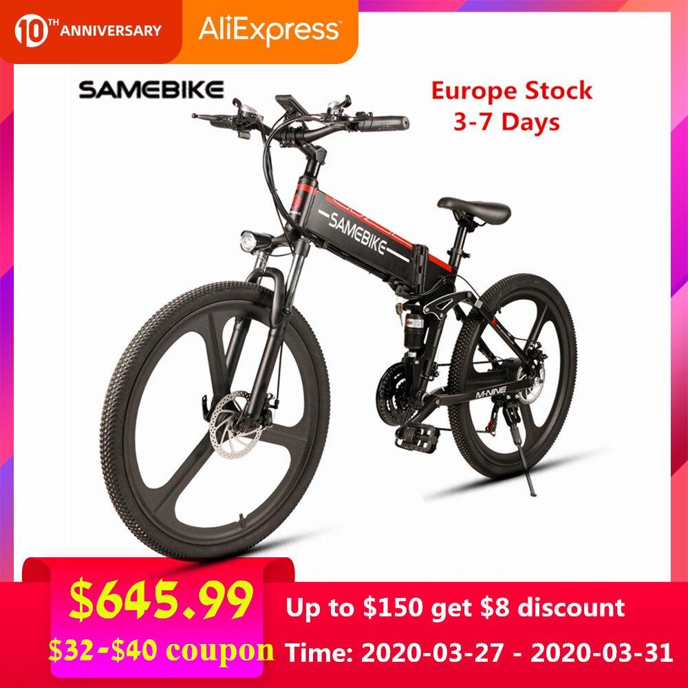 Europa estoque samebike lo26 bicicleta elétrica ciclismo 48 v 350 w/500 w e bicicleta elétrica mtb motor dobrável ebike bicicleta elétrica