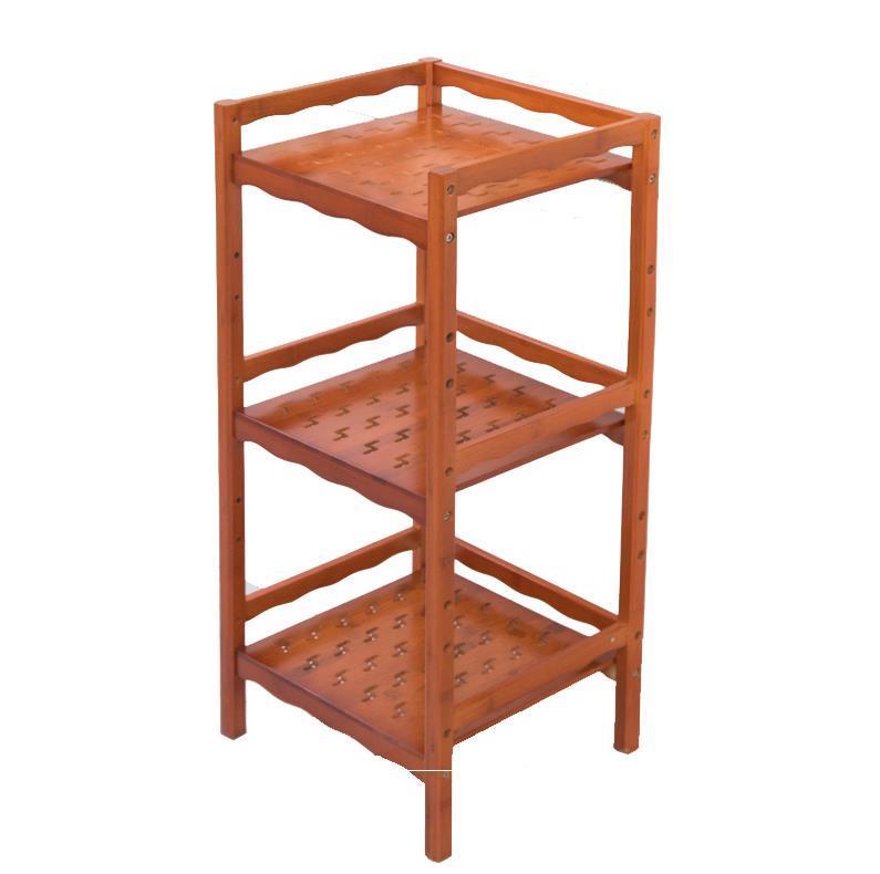 Cremalheiras de bambu conjunto de chá rack de armazenamento multi função rack de cozinha rack de detritos panelas chaleira prateleira|  - title=