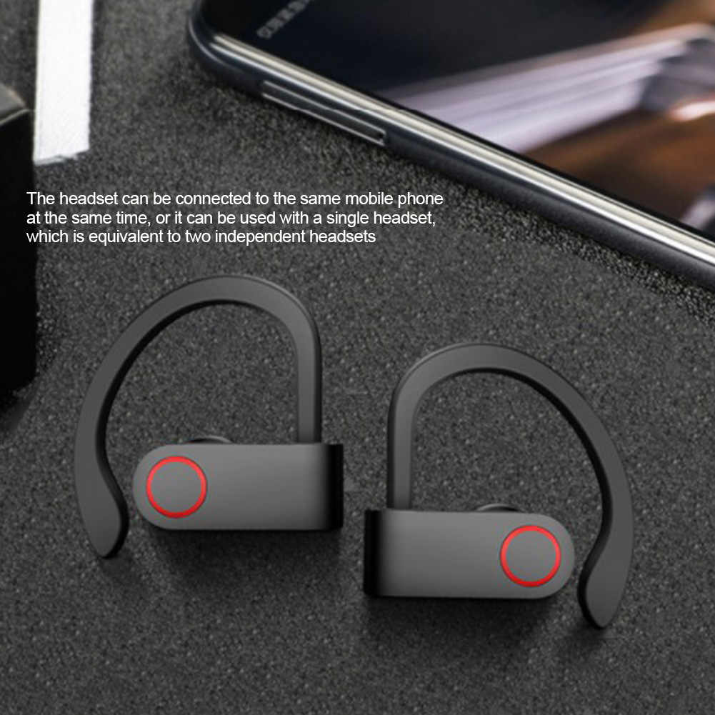 Bluetooth 5,0, беспроводные наушники, мини наушники, стерео наушники для звонков, шумоподавление, громкая связь, зарядная коробка для путешествий с микрофоном, для домашнего бега