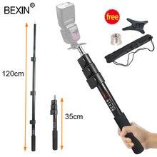 Estensione Asta di Supporto Fotografia Flash bar holder Selfie bastone Asta del Bastone A Mano Grip monopiede di sostegno luce Boom Pole staffa di supporto