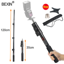 Exten Stand מוט צילום פלאש בר מחזיק Selfie מקל מוט מקל יד אחיזה חדרגל תמיכה אור בום מוט תמיכת bracket
