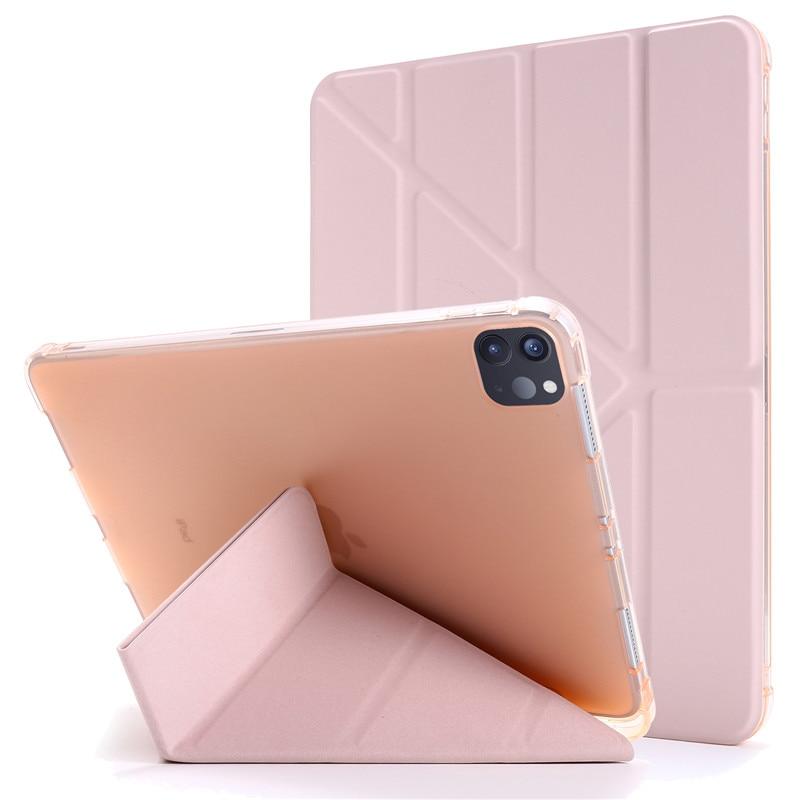 rose gold Black For iPad Pro 11 2020 Case PU Leather Soft Back Slim Smart Tablet Funda For iPad