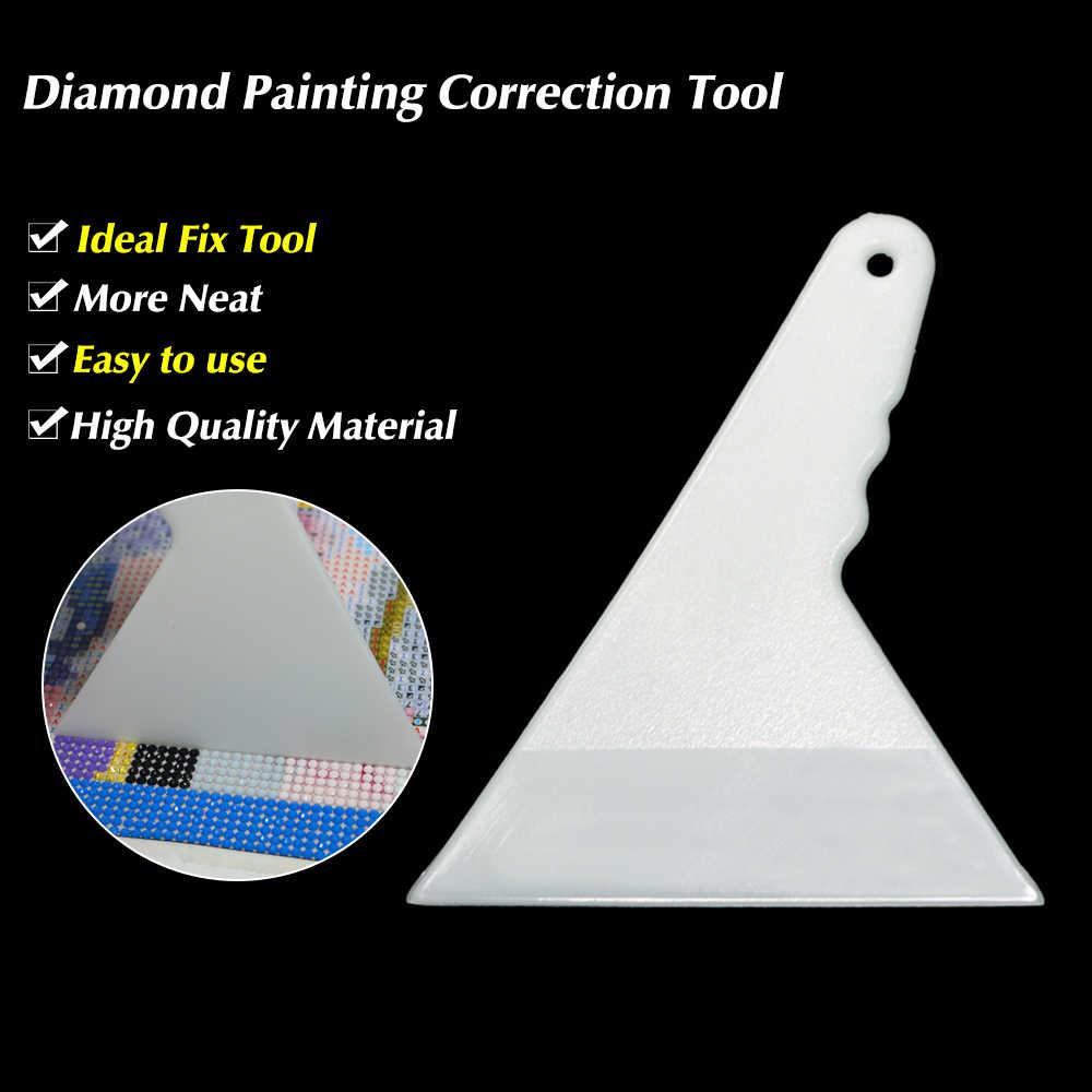 1 adet beyaz elmas boyama düzeltme araçları düzeltme araçları çekme aksesuarları Adjusterd düzeltici elmas boyama kitleri