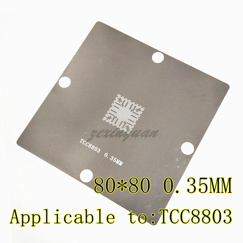 1PCS Applicable To: TCC8803 8803 Reballing Stencil BGA Steel Mesh In Stock