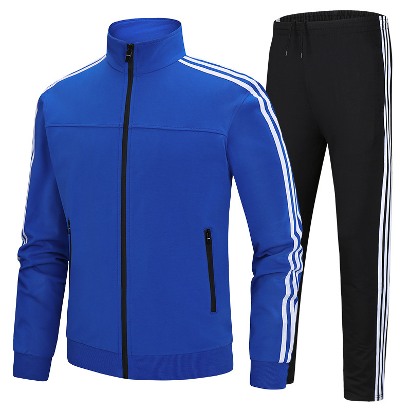 Men Autumn Casual Cotton Sportswear Jacket Sets Tracksuit For Men Teens Spring Fashion 2 Piece Sweatshirt Sweatpants Sets Men