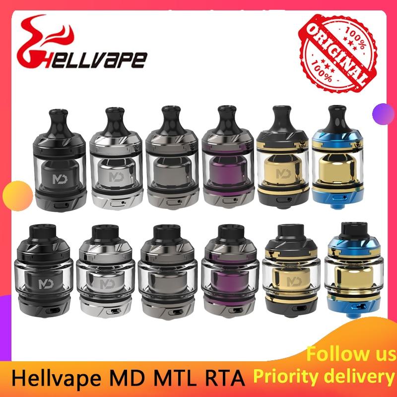 Original Vape Atomizer Hellvape MD 24mm RTA 2.0/4.0ml Juice Capacity & 24mm Diameter RTA Electronic Cigarette Tank