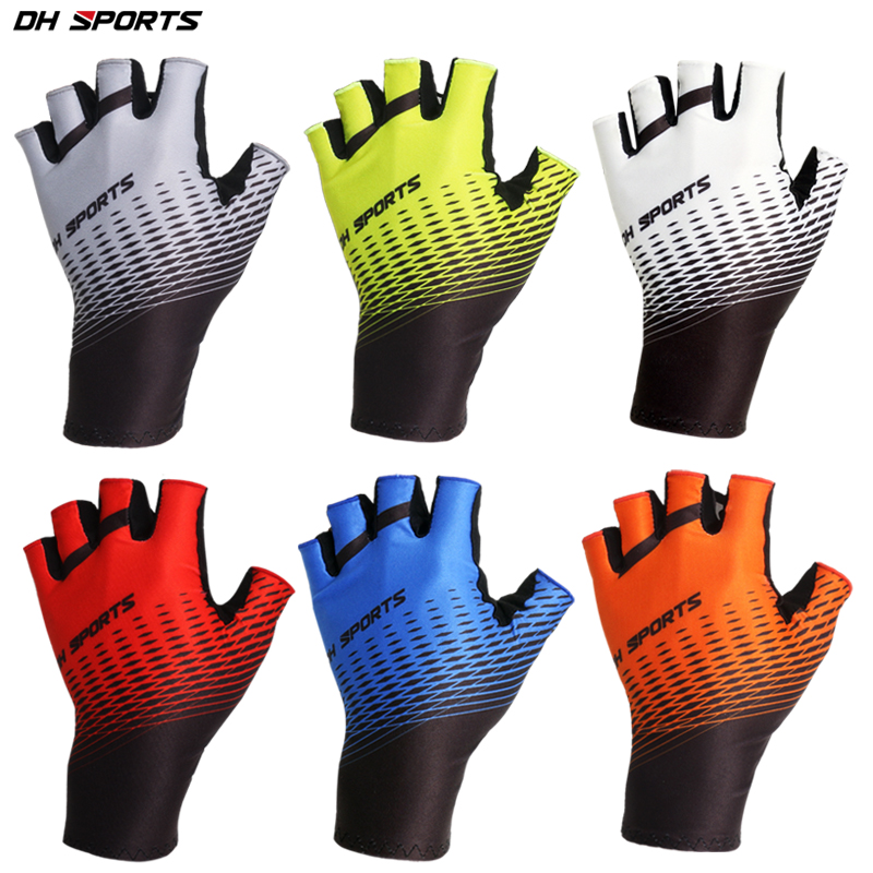 Cycling Gloves Outdoor Protect MTB Bike Gloves Washable Breathable Polyester Spandex Half Finger Racing Bicycle Gloves