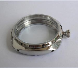 Image 1 - Cajas de reloj de acero inoxidable 316L, de alta calidad, de 47mm, aptas para cuerda a mano mecánica 6497/6498, movimiento 013A