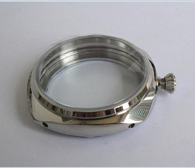 Cajas de reloj de acero inoxidable 316L, de alta calidad, de 47mm, aptas para cuerda a mano mecánica 6497/6498, movimiento 013A
