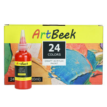 24color Acrylic Paint Set Nail Art Painting Pigment For Clothing Drawing Painting Artists Art Supplies