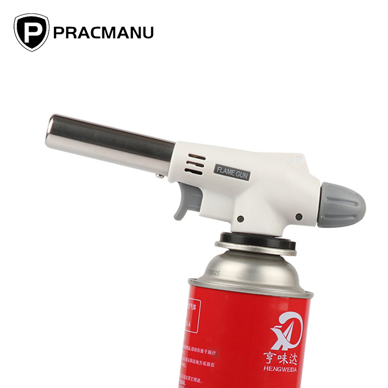 PRACMANU Gas Torch Flame Gun Blowtorch Cooking Soldering Butane AutoIgnition Gas-Burner Lighter Heating Welding Gas Burner Flame