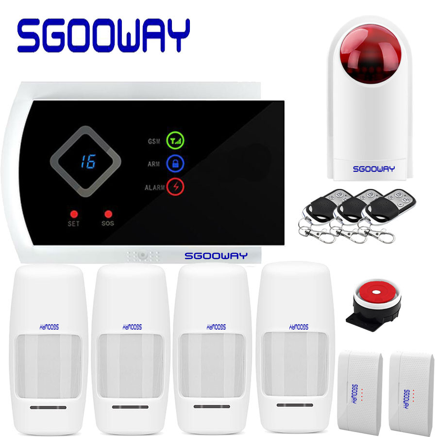 Sgooway Smarts GSM Alarm Systems Android IOS APP Alarms Home Security System free shipping image
