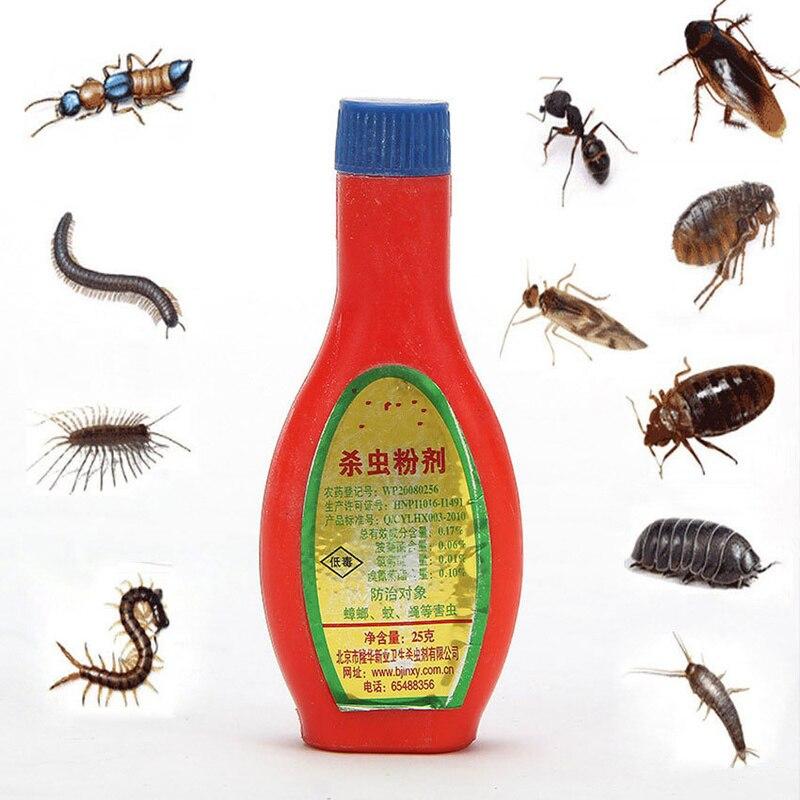 2 Bottle! Flea Mites Powder Killing Medicine Powder Insecticide Scorpion Flea Locust Ant Bug Cockroach Bait For Pet Supplies