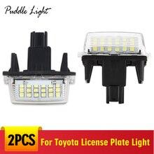 цена на 2pcs Led Licence Plate Light Number Plate Light CANbus White LED Lamp For Toyota Yaris/Vitz Camry Corolla Prius C Ractis