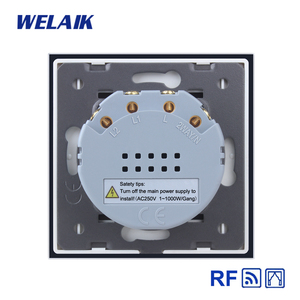 Image 5 - WELAIK EU Curtains Switch RF 433MHZ Glass Panel Remote Control Curtains Touch Switch Wall Blinds Switch  AC250V A1923CLCWR01