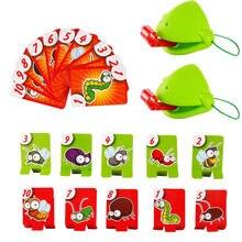 Pudcoco – jeu de société avec masque de lézard caméléon, langue remuante, cartes à lécher, pour enfants, jeux de fête en famille, jeu de bureau