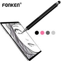 FONKEN Stylus Pen For Ipad Tablet Pens Drawing Pencil 2in1 Dual Written Capacitive Screen Touch Pen For Mobilephone PC Pens