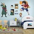 Мультфильм один кусок наклейки на стену домашний декор Детская комната спальня украшения сломанные плакаты ПВХ
