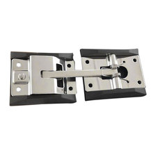 Прочная крепежная Т-образная пряжка аксессуары для позиционирования Защитная нержавеющая сталь полированная дверь грузовика крюк прицеп с кронштейном