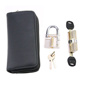 Image 3 - 9pcs Transparent Locks with 24pcs GOSO Titanium Locksmith Tools Broken Key Remove Pick Kit Lock Practice Set