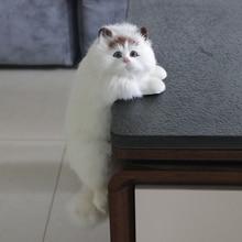 Simülasyon kedi hayvan modeli dekorasyon ev TV dekorasyon asılı kedi el sanatları peluş oyuncak bebek hediye iyi nimet