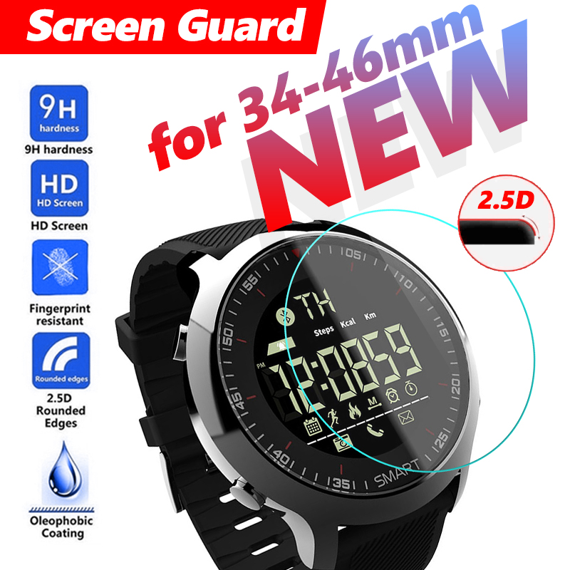 34-46mm All Size Round Protective Glass Film Watch Watches Man Big Dial Smart Watch Explosion Proof Hard Protective For Casio