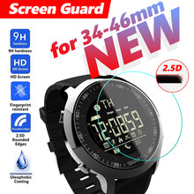 34-46mm All Size Round Protective Glass Film watch watches man big dial smart watch Explosion Proof Hard Protective For Casio(China)
