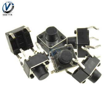 100Pcs/pack 6*6*6 Tact Switch 4 Pin Panel PCB Momentary Tactile Tact Push Button Micro Switch Light Touch Switch image