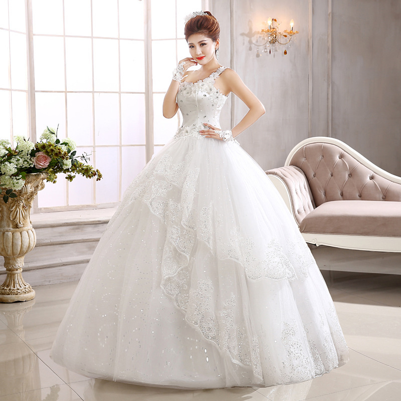 Wedding Top Fashion Dresses 2020 Pregnant Women The Bride Korean New Contracted Large Yards Single Shoulder To Show Thin Dress