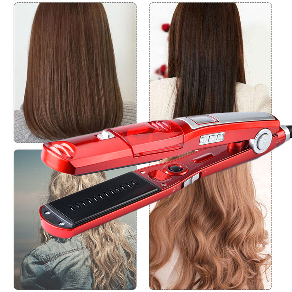 Electric Hair Splint Steam Hydrating Home Hair Steam Straight Straightener Hair Stick Professional DIY Hair Styling Tools
