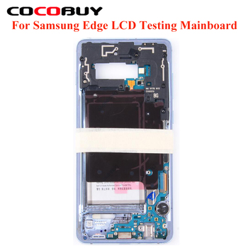 LCD Touch Display Testing Mainboard Motherboard + Middle Frame Housing For Samsung Edge S10+ S9 S9+ S8 S8+ S7Edge Plus Note8 9