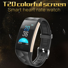 T20  Bluetooth Smart Wristbands Color Screen Heart Rate Blood Pressure Monitoring smartband Message Reminder Smart Bracelet цена