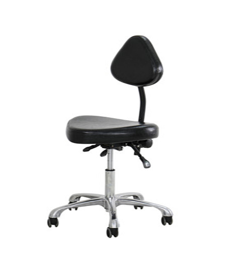 Tatto Master Chair Thick Backrest Beauty Salon Chair Black Leather Rebound Sponge Inside With Adjustable Gas Rod And 5 Pulley