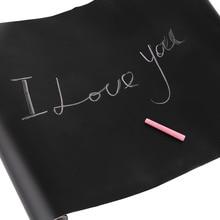 45 см х 200 см клейкая школьная доска пленка винил Рисование Декор Фреска мел доска палочка рулон мел доска наклейки для детей